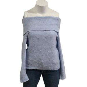 [Divided] Baby Blue Off the Shoulder Sweater